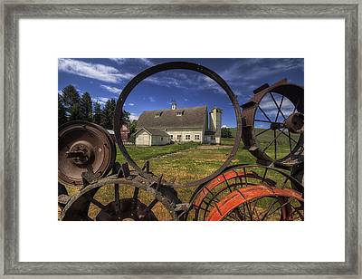 Framed By Wheels  Framed Print by Mark Kiver