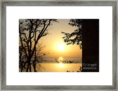Framed Golden Sunset Framed Print