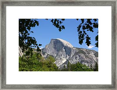 Framed Half Dome Framed Print