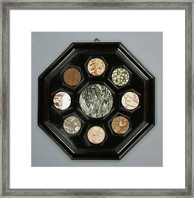 Framed Hardstone Panel Unknown Florence, Italy, Tuscany Framed Print by Litz Collection