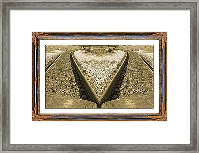 Framed Heart Framed Print by Betsy Knapp