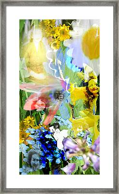 Framed Print featuring the digital art Framed In Flowers by Cathy Anderson