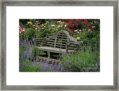 Framed Print featuring the photograph Framed In Flowers by Vicki DeVico