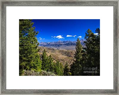 Framed Lost River Range Framed Print by Robert Bales