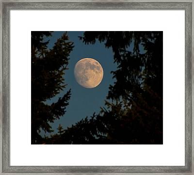 Framed Moon Framed Print