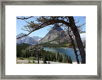 Framed Peaks Framed Print by Carolyn Ardolino
