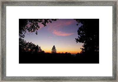 Framed Pink Clouds Framed Print