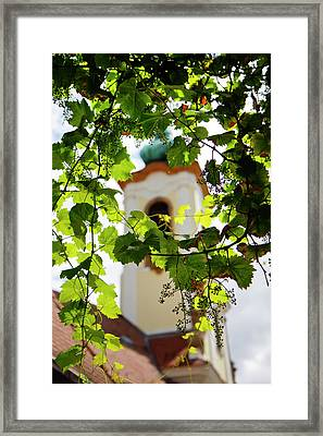 Framed Print featuring the photograph Framed Steeple by KG Thienemann