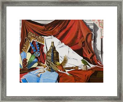 Framed Print featuring the painting Framed by Susan Culver