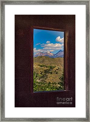 Framed White Dome Mountain Range Framed Print by Robert Bales