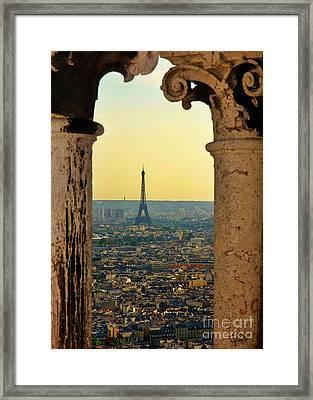 Framing The Eiffel Tower Framed Print