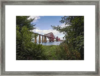 Framing The Forth Bridge Framed Print by Ross G Strachan