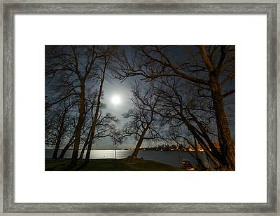 Framing The Moon Framed Print