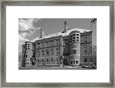 Framingham State University May Hall Framed Print by University Icons