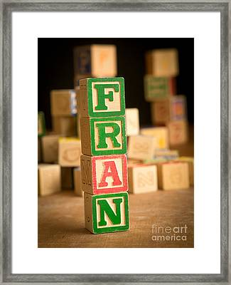 Fran - Alphabet Blocks Framed Print by Edward Fielding