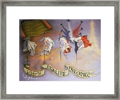 France Belle Et Rebelle Un Framed Print by Guillaume Bruno