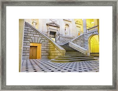 France, Bordeaux, Grand Theatre De Framed Print by Emily Wilson