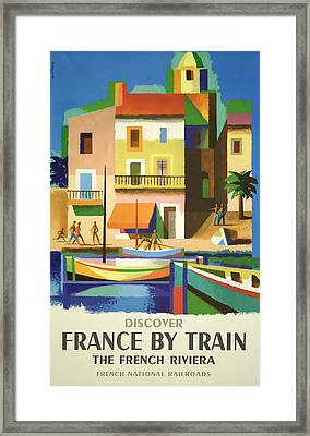 France By Train Framed Print by David Wagner