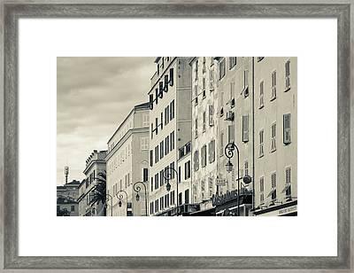 France, Corsica, Ajaccio, Buildings Framed Print