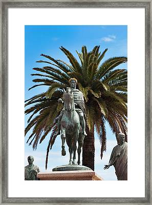 France, Corsica, Ajaccio, Place General Framed Print by Walter Bibikow