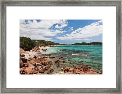 France, Corsica, Baie De Rondinara Bay Framed Print