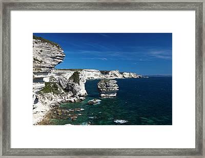 France, Corsica, Bonifacio, Elevated Framed Print