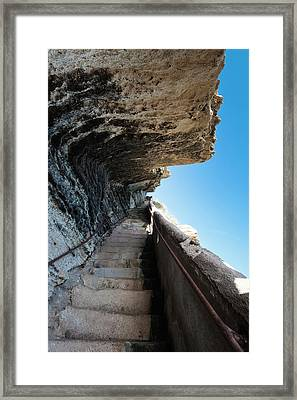 France, Corsica, Bonifacio, Escalier Du Framed Print