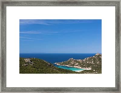 France, Corsica, Cap De Roccapina Cape Framed Print
