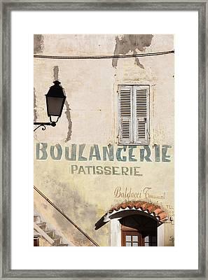 France, Corsica, Corte, Old Boulangerie Framed Print
