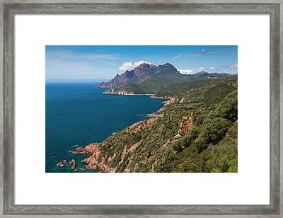 France, Corsica, Golfe De Girolata Framed Print