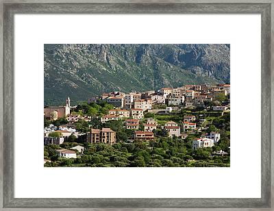 France, Corsica, La Balagne, La Framed Print by Walter Bibikow