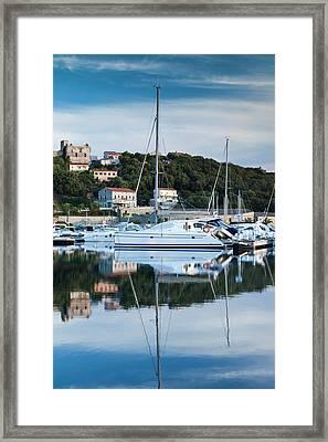 France, Corsica, Porto Vecchio, Marina Framed Print