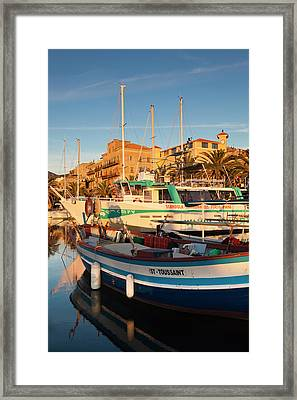 France, Corsica, Propriano, Town Framed Print