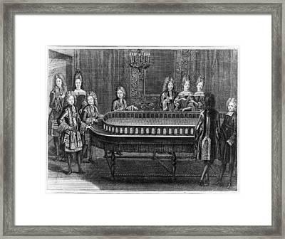 France Court Life, 1690s Framed Print by Granger