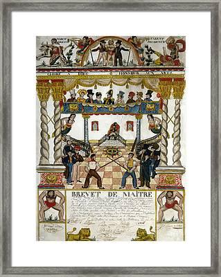 France Fencing, 1825 Framed Print