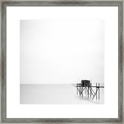 France Fishing Hut Framed Print by Nina Papiorek
