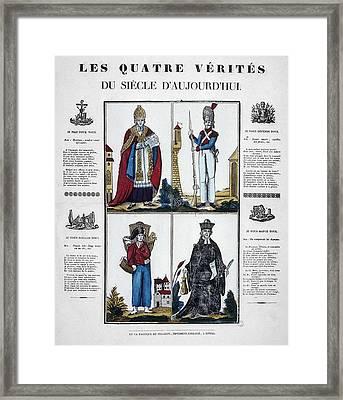 France Four Truths, C1825 Framed Print by Granger