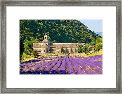 France, Gordes Cistercian Monastery Framed Print by Jaynes Gallery