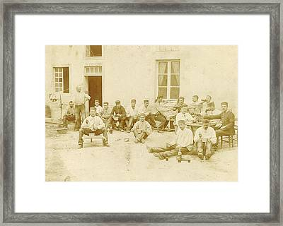 France, Group Portrait Dragoon Regiment For Office Framed Print by Artokoloro