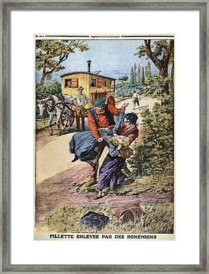 France Gypsies, 1890s Framed Print
