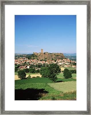 France, Haute-loire, Polignac, View Framed Print
