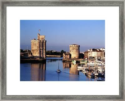 France, La Rochelle, Vieux Port, Tour Framed Print by David Barnes
