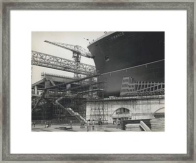 France Launched To-day Framed Print by Retro Images Archive