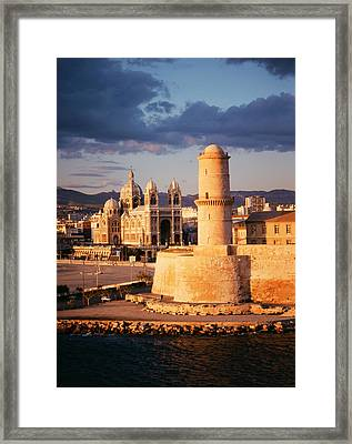 France, Marseille, View Of Marseille Framed Print by David Barnes