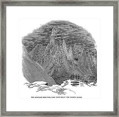 France Mont Blanc, 1851 Framed Print