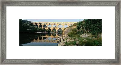 France, Nimes, Pont Du Gard Framed Print by Panoramic Images