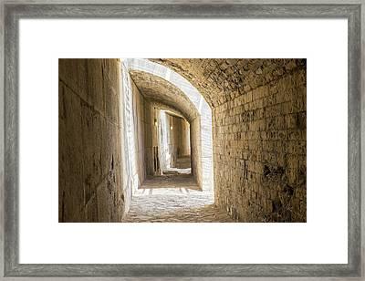 France, Nimes, Roman Amphitheater Or Framed Print by Emily Wilson