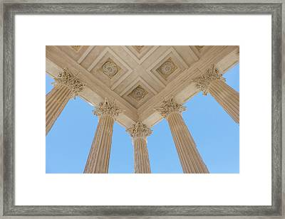 France, Nimes, The Maison Carree Framed Print by Emily Wilson