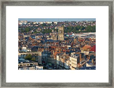 France, Normandy, Dieppe, Elevated City Framed Print