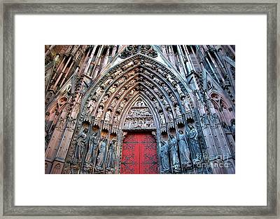 France  Our Lady Of Strasbourg Cathedral  Framed Print by Robert Santuci